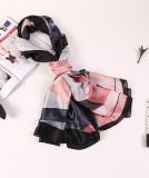 Écharpe en soie à manches longues Pashmina imprimée à la mode pour Lady