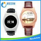 Round Smart Watch Support Android e Ios Heart Rate Monitor Relógio de aço inoxidável