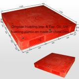 1100x1100x150 mm palette plastique à usage intensif avec les ponts fermés double face
