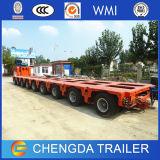 200t Modular remorque de camion de transport machine lourde Fram Remorque de ligne