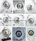 Relógio de mesa de cristal simples Relógio de vidro de decoração M-5147