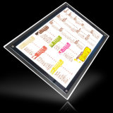 Caixa leve de cristal magro do diodo emissor de luz que anuncia para o sinal dos bens imobiliários