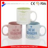 18oz Colorido Straight Body Ceramic Mug com design familiar