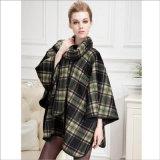 女性の衣服のための両面のカシミヤ織岬の毛皮のコート