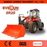 Ce van het Merk van Everun keurde de Multifunctionele Lader van het Wiel 2.5ton voor Verkoop goed
