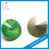 Venda por grosso China verde redondo jóias de Pedra