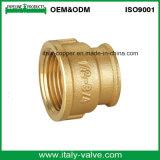 El pulimento de cobre amarillo de calidad superior que pintaba el ajuste forjado del casquillo (AV-BF-8017)