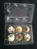 ペットプラスチックウズラの卵包装ボックス容器のウズラの卵の皿24の包装業者の穴