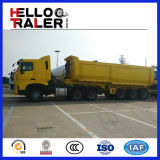 Tri Axle трейлер сброса дна цилиндра 30 тонн гидровлический