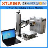La máquina de la marca del laser de la fibra del laser de Xt para el collar de acero de los anillos de bodas de los brazaletes del cobre de la plata del oro del platino cae los encadenamientos dominantes
