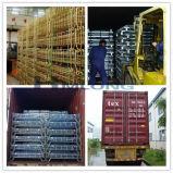 Gaiola de dobramento dobrável do armazenamento da carga do fio