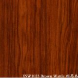 Aço pre pintado da grão de madeira (Wattle de Brown)