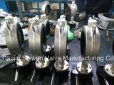 API 150 lb plena Válvula Borboleta Wafer de aço inoxidável com engrenagem