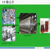 máquina de reciclagem de resíduos médicos recebendo óleo de pirólise