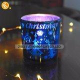Farbiger Weihnachtsglaskerze-Halter