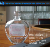 botella de cristal de la belleza del clavo del claro de la dimensión de una variable del corazón 5ml-13ml