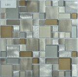Mosaico della miscela di vetro e del metallo dell'oro