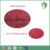La nature libre de citrinine normale de 100% a fait le riz rouge 1%~4% de levure