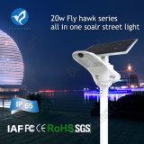 Lampada solare della strada di Bluesmart 20W LED con la macchina fotografica del pellame