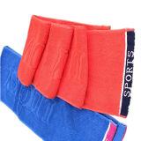 100% хлопок красного цвета из жаккардовой ткани с логотипом спорта полотенце