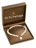 Подарка ювелирных изделий кожи логоса золота коробка изготовленный на заказ упаковывая для кольца