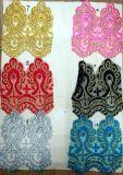 고품질 추가 색깔 정선한 자수 레이스
