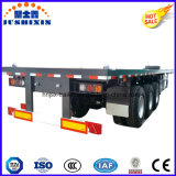 半容器のトラックのトレーラーCimc任意選択40FTの平面のトレーラー