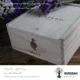 Contenitore di imballaggio di legno timbrato caldo su ordinazione del regalo di marchio di Hongdao Wholesale_F