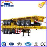 remorque de lit plat de la longueur 40FT de 12500mm pour le conteneur de transporteur