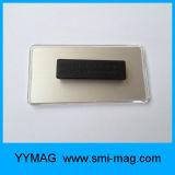 Supporto di distintivo di plastica magnetico della modifica di nome del neodimio rettangolare in bianco