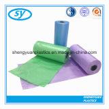 Passte jeden Größe farbigen Plastikabfall-Beutel an