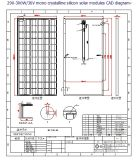 36V 290W 295W 300W Monocrystalline Solar Panel PV Module con Ce Approved