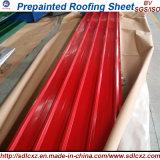 (0.13mm-1.3mm) Pre-pintado de acero galvanizado bobina de Hojas de techo