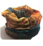 주문품 분홍색 탄력 있는 다기능 담황색 Headwear가 디자인에 의하여 인쇄된 UV 밖으로 보호 문에 의하여