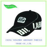 La moda de sarga de algodón negro Imprimir Gorra de béisbol