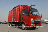 Sinotruk HOWO 5 톤 소형 상자 작풍 화물 트럭