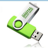 Metal Plastic Swivel USB Flash Drive Pen Drive