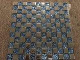 ステンレス鋼およびクリスタルグラスのモザイク組合せ、シート