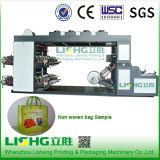 Impresora flexográfica de alta velocidad de cuatro colores para el bolso no tejido