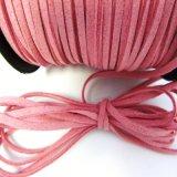 Comercio al por mayor Cordón de cuero gamuza suave gamuza cable, hilo de rosca plana Lace Thong artesanía cadena