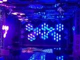 Decoração do favo de mel DIY do diodo emissor de luz 3D e estágio e contexto iluminado parede