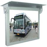 Affissione a cristalli liquidi della riparazione del tetto del bus da 17 pollici che fa pubblicità al giocatore