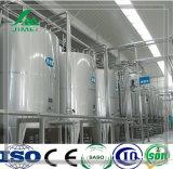 중국에 있는 주문을 받아서 만들어진 주스와 우유 충전물 기계 생산 라인