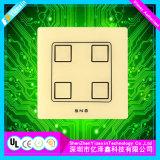 Fabricación conductora modificada para requisitos particulares del interruptor de membrana del OEM con el botón grabado Kepd