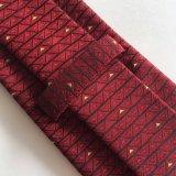 Laço tecido seda da garganta da cor do marrom da forma dos homens (L052)