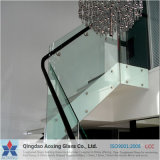 Vidro temperado desobstruído para os trilhos das escadas/edifício com Ce