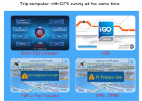 多機能情報Vレジ係H301 OBDスマートな車のトリップコンピュータGPSの操縦士TPMSオイルの統計量
