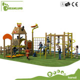 Cour de jeu extérieure en bois multifonctionnelle employée couramment pour l'amusement