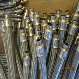 Manguito de alta presión del metal flexible del acero inoxidable con capa trenzada