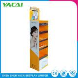 Papel de segurança piso dobrada personalizado suporte da tela de cosméticos para lojas